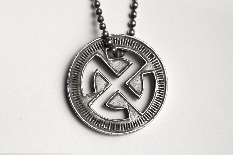 Good luck pendant kube good luck pendant luck love life light sterling silver pendant on 30 oxidized sterling silver chain by darkdawn x kube mozeypictures Gallery