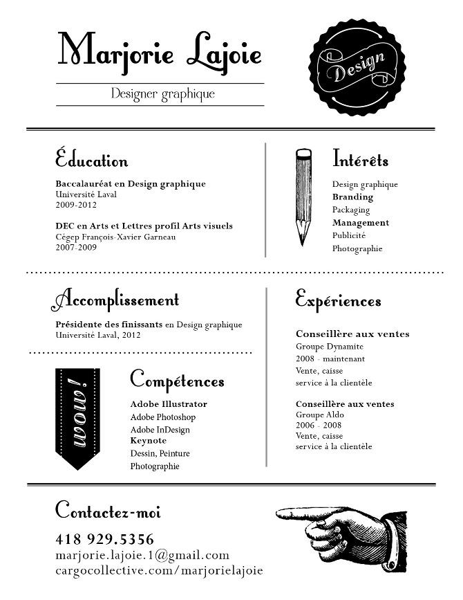 cv   designer graphique